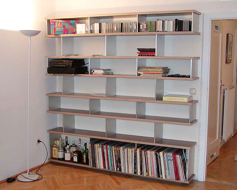 Bücherregal Holz & Metall