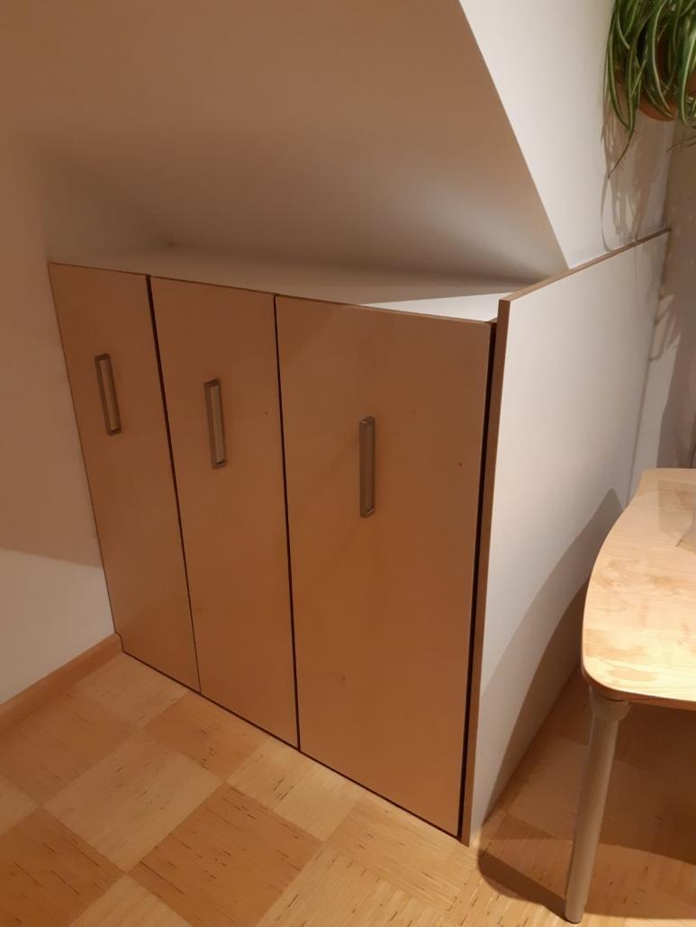 Büroordnung auf kleinstem Raum auch in Dachschrägen